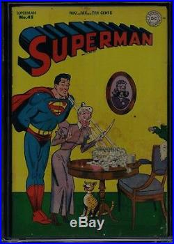 SUPERMAN #43 CGC Double cover