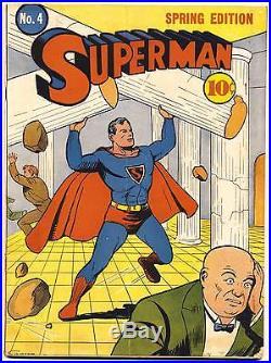 SUPERMAN #4 CGC 4.5 VG+, 2nd app. Lex Luthor! DC Comics 1940