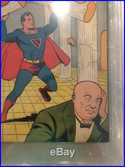 SUPERMAN #4 (Lex Luthor 2nd appearance) CGC 5.5 FN- Golden Age DC Comics 1940