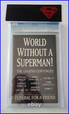 SUPERMAN #75 CGC 9.8 EPIC DOOMSDAY vs SUPERMAN BATTLE DEATH OF SUPERMAN 1992
