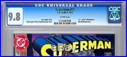 SUPERMAN #75 CGC 9.8 EPIC DOOMSDAY vs SUPERMAN BATTLE DEATH OF SUPERMAN 1993