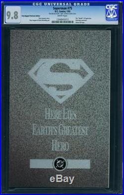 Superman 75 Cgc 9.8 White Pages Platinum Edition No Reserve Auction