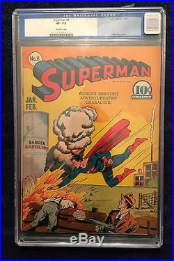 SUPERMAN #8 CGC Very Fine- 7.5