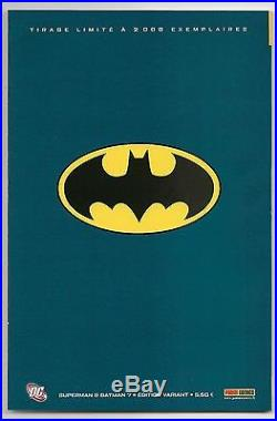Superman Batman 7 Dell'otto Virgin Variant French Edition