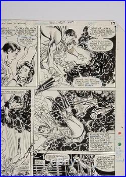 SUPERMAN ORIGINAL ART WAYNE BORING ALL STAR SQUADRON ANNUAL#3 PG 14 FREE SHIP