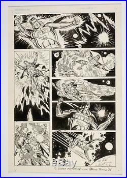 SUPERMAN ORIGINAL ART WAYNE BORING PG7 UNSURE OF USE SUPERMAN IN SPACE FREE SHIP