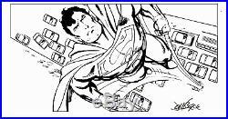 SUPERMAN Original Art by the great John Byrne -size 21.5 x 30 cm