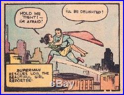 SUPERMAN SUNDAY PAGE #1A AMAZING HIGH GRADE! Nov 1939 RARE! ORIGIN