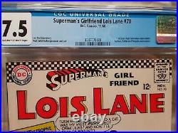 SUPERMAN'S GIRLFRIEND LOIS LANE #70 CGC 7.5 1st Silver Age Catwoman