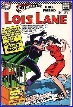 SUPERMAN'S GIRL FRIEND LOIS LANE #70 VG, 1st S. A. CATWOMAN! DC Comics 1966