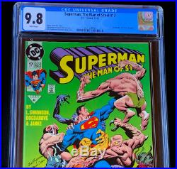 SUPERMAN The Man of Steel #17 CGC 9.8 WP 1992 1st Doomsday! DC Comic