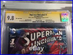 Superman Unchained 3-d Variant #1 Cgc Ss 9.8 Signed By Jim Lee Sinclair Williams