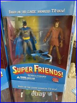 SUPER FRIENDS dc direct DELUXE ACTION FIGURE Set Of 6 Batman Superman Aquaman ++