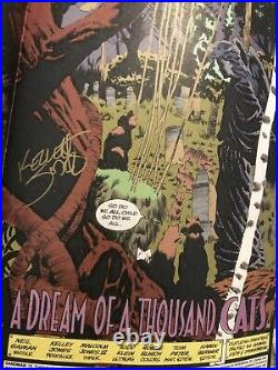 Sandman comic book lot of 6. Signed/sketched By Neil Gaiman Thompson RARE