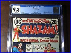 Shazam #1 (1973) 1st Captain Marvel! CGC 9.8! White Pages! Key