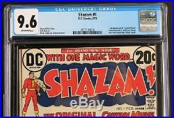 Shazam #1 CGC 9.6 SUPERMAN 1st app of CAPTAIN MARVEL Billy Batson DC Comic