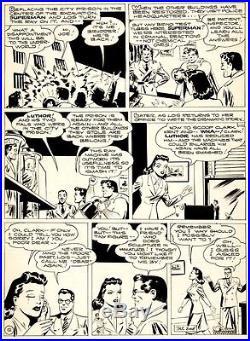 Shuster Studio GOLDEN AGE SUPERMAN PG 12 Original Art (1944)