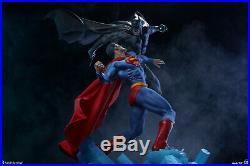 Sideshow DC Comics Batman vs Superman Superhero Clash Diorama Statue In Stock