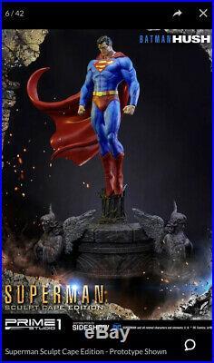 Sideshow Ex Prime 1 Superman Scupt Statue New Mib Wow