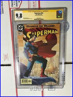 Signed JIM LEE 9.8 CGC SS SUPERMAN 204 batman wolverine xmen 1 brian azzarello 2