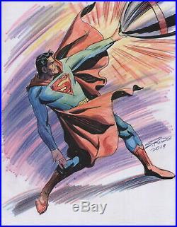 Steve Rude Signed Original DC Comics Super Hero Art Sketch Superman