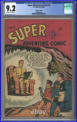 Super Adventure Comic #73 Cgc Nm 9.2 Single Highest Cgc Grade Batman 1956