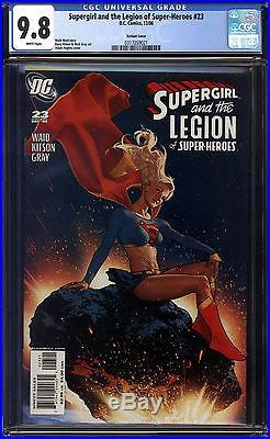Supergirl and The Legion of Super-Heroes #23 CGC Adam Hughes Variant