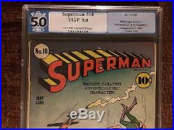 Superman #10 Pgx Universal Grade 5.0 Dc Comics 1941