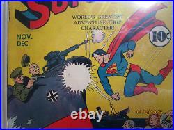 Superman # 13 Nice MID Grade Cgc Universal Grade 5.0