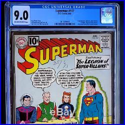 Superman #147 (dc 1961) Cgc 9.0 Scarce! 1st Legion Of Super-villains