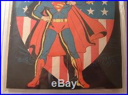 Superman #14 DC 1942 Classic Patriotic Shield Cover! 4.0 Restored Grade