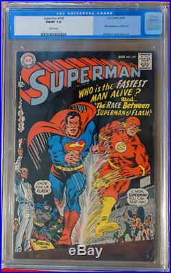 Superman (1939) #199 CGC Graded 7.0 Superman vs The Flash Races Flash