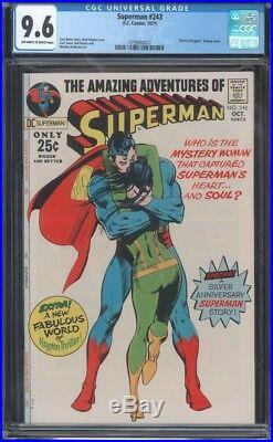 Superman (1939) #243 Cgc 9.6 Nm+ Classic Neal Adams Cover