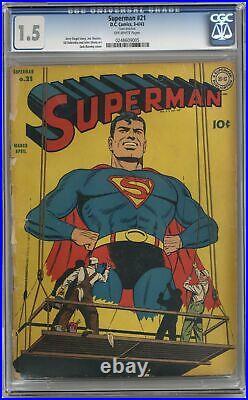 Superman #21 CGC 1.5 1943 0248609005