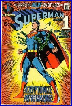 Superman #233 NM- 9.2 white pages Classic Neal Adams cover DC 1971 No Reserve