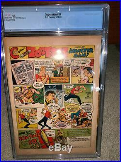 Superman #24 CGC 4.5 DC 1943 Classic Flag Cover! Action! JLA! K10 306 1 cm