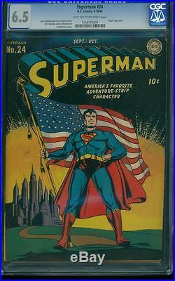 Superman 24 CGC 6.5 Golden Age Key DC Comic Early Superman Appearance L@@K