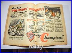 Superman #24 Classic Flag Cover Unrestored 1943 Burnley Cvr DC Key! Not Cgc