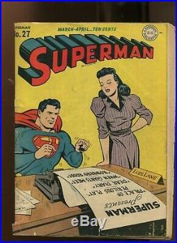 Superman #27 (3.5) Golden Age 1944