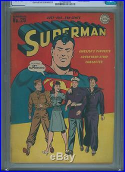 Superman #29 (Jul-Aug 1944, DC) CGC 4.5 Early Superman Patriotic Cover