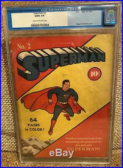 Superman #2 (DC, 1939) CGC GD/VG 3.0 Off-white to Cream pages