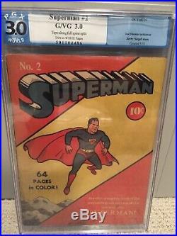 Superman #2 Golden Age PGX 3.0 Not CGC DC Fall 1939