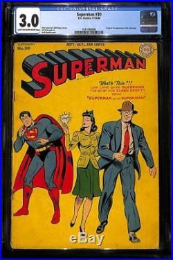 Superman #30 CGC 3.0 DC 1944 1st Mxyztplk! Golden Age Key! JLA! H9 166 1 cm