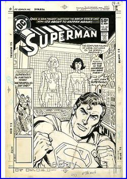 Superman #362 COVER Original COPPER AGE Comic Art Ross Andru Giordano DC 50c