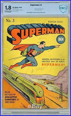 Superman #3 CBCS 1.8 1939