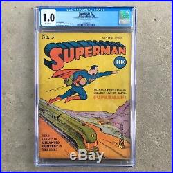 Superman 3 (Winter, 1940) CGC 1.0 Universal Grade