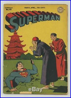 Superman #45 GD 2.0 1947