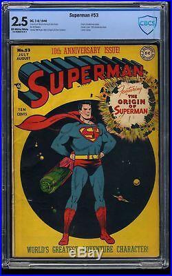 Superman #53 CBCS GD+ 2.5 Off White to White