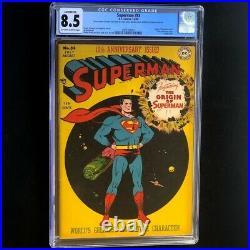 Superman #53 (DC 1948) CGC 8.5 Conserved 10th Anniversary & Origin Comic