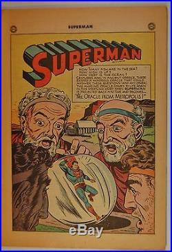 Superman #53 (Jul-Aug 1948, DC) 10th Anniversary Issue! Origin of Superman
